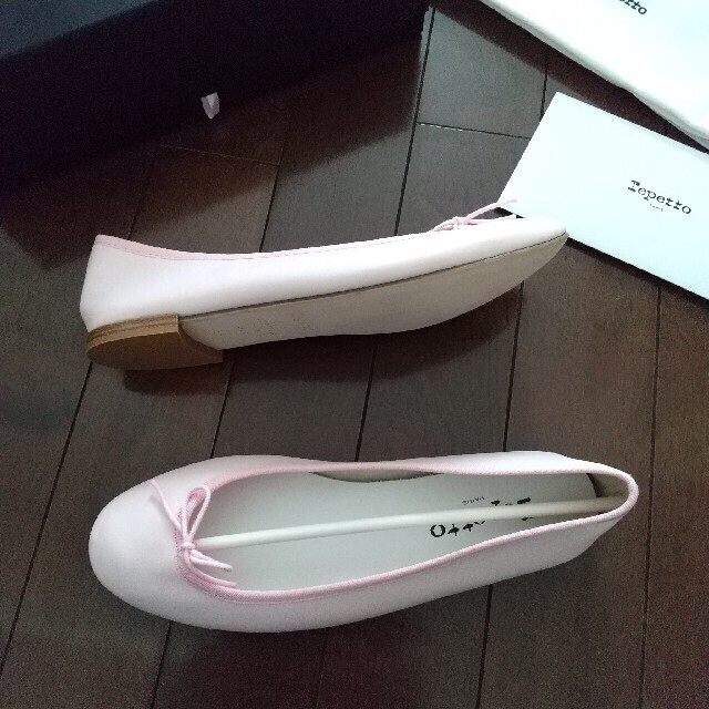 repetto(レペット)の新品 Repetto レペット サンドリオン バレエシューズ ピンク 38.5 レディースの靴/シューズ(バレエシューズ)の商品写真