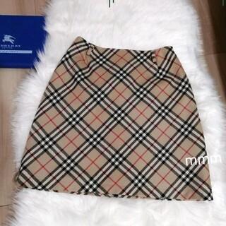 バーバリーブルーレーベル(BURBERRY BLUE LABEL)の美品 バーバリーブルーレーベル ミニスカート 台形スカート(ミニスカート)