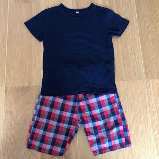 MUJI (無印良品) - 無印良品 キッズTシャツ&ハーフパンツ