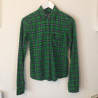 Gilly Hicks - GILLYHICKS ギリーヒックス*cottonチェックシャツ グリーン
