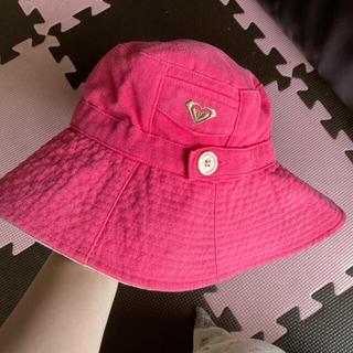 ロキシー(Roxy)のロキシー ピンク ベージュ つばひろ ハット 帽子 日焼け対策(ハット)