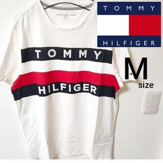 TOMMY HILFIGER - トミーヒルフィガー 美品 ビックロゴ 半袖Tシャツ カットソー メンズ Mサイズ