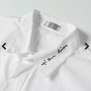 Christian Dior - 求 dior スクリプトロゴ刺繍 ワイシャツ