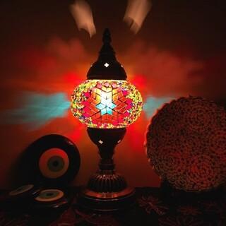 モザイクランプトルコランプ照明インテリア(テーブルスタンド)