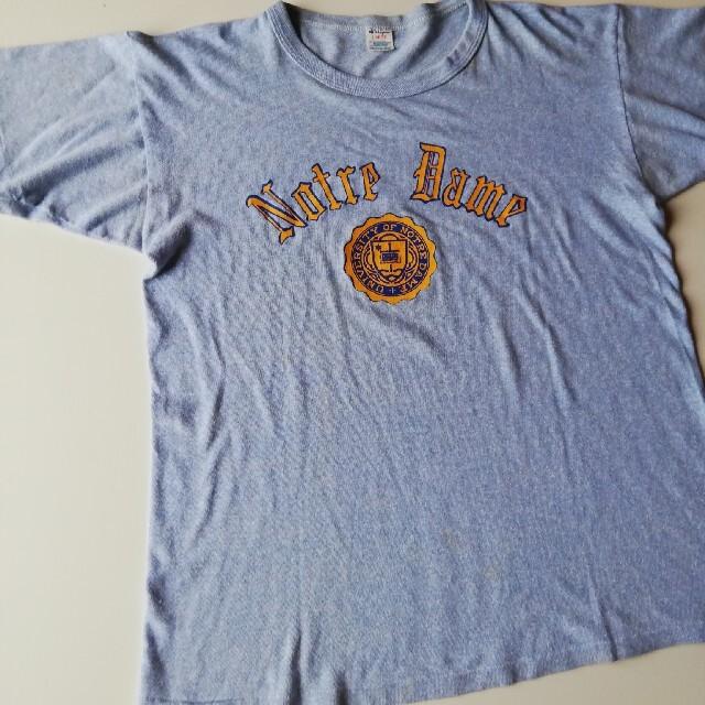 Champion(チャンピオン)のチャンピオン◆80年代◆USA◆トリコロールタグ◆ノートルダム大学◆ヴィンテージ メンズのトップス(Tシャツ/カットソー(半袖/袖なし))の商品写真