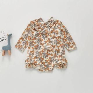 【大人気!在庫2点!早い者勝ち】韓国子供服 フリルレモン柄水着 swimwear(水着)