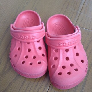 crocs - CROCS 赤 サイズ 6-7