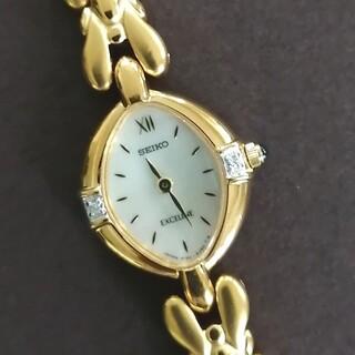 SEIKO - 美品 SEIKOセイコー エクセリーヌ 2Pダイヤ ブレスレット腕時計 電池交換