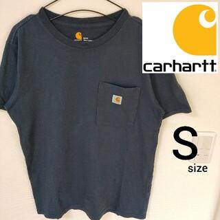 カーハート(carhartt)のCarhartt ネイビー 半袖Tシャツ カットソー メンズ Sサイズ 即日対応(Tシャツ/カットソー(半袖/袖なし))