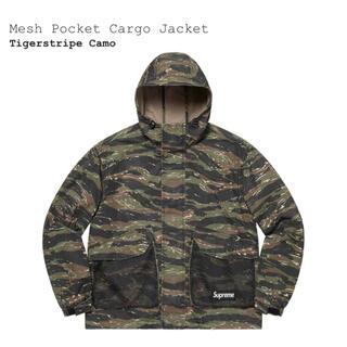 シュプリーム(Supreme)のsupreme  mesh pocket cargo jacket camo M(ミリタリージャケット)