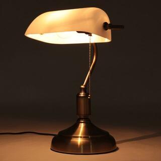 バンカーズランプ デスクライト テーブルランプ 照明 デスクランプ 白8011