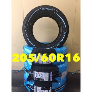 205/60R16 ホワイトレター タイヤ 4本セット 送料無料!16インチ(タイヤ)