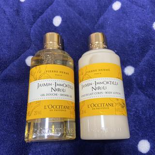 ロクシタン(L'OCCITANE)のロクシタンジャスミン イモーテルネロシャワージェルとボディミルク(ボディソープ/石鹸)