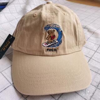 【大人気】ポロ ラルフローレンキャップ メンズ帽子  ポロベアキャップ ベージュ
