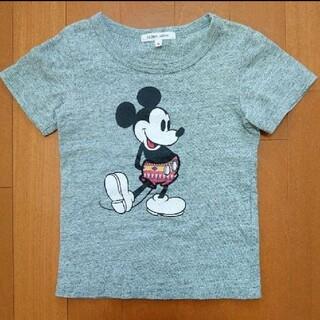 グローバルワーク(GLOBAL WORK)のGLOBAL WORK Disney ミッキー Tシャツ S グレー(Tシャツ/カットソー)