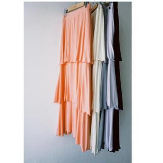 新品☆HOWDY. mellow frill skirt.(gray)