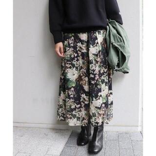 FRAMeWORK - FRAMeWORK / 楊柳花柄スカート フレームワーク