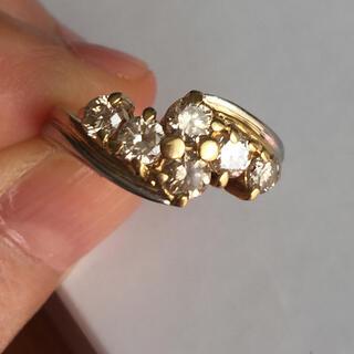 ジュエリーツツミ(JEWELRY TSUTSUMI)の豪華  1.04カラットダイヤモンドリング   18金 プラチナ 11号(リング(指輪))