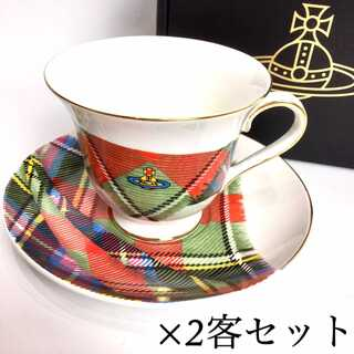 ヴィヴィアンウエストウッド(Vivienne Westwood)の専用です。 新品 ヴィヴィアンウエストウッド ティーカップ ソーサ― 2客セット(食器)