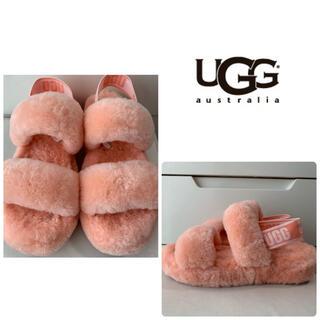 アグ(UGG)の美品 UGG フラッフ サンダル(サンダル)