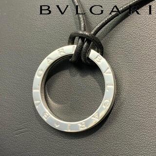 ブルガリ(BVLGARI)の[新品仕上済] ブルガリ シルバー 925 レザー キーリング ネックレス(ネックレス)