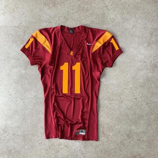 ナイキ(NIKE)の90s Nike SC 11番 刺繍 アメフト ゲームシャツ 小豆色(アメリカンフットボール)