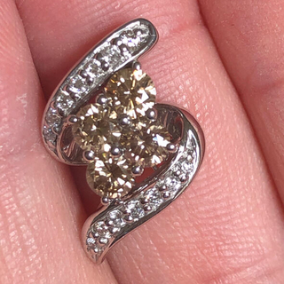 K18 WG ダイヤモンド 0.75ct ペンダントトップ