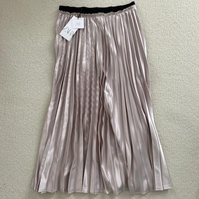 ZARA(ザラ)のZARA サテン プリーツ ロングスカート レディースのスカート(ロングスカート)の商品写真