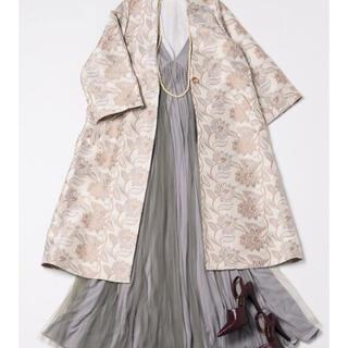 ラベルエチュード(la belle Etude)の【Belle vintage】Backリボンボリュームチュールキャミワンピース(ロングスカート)