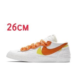 sacai - NIKE ブレーザー LOW x Sacai  Magma Orange 26
