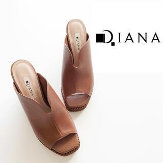ダイアナ(DIANA)の【DIANA】新品未使用 ウェッジサンダル ブラウン M 23cm(サンダル)