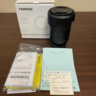 タムロン(TAMRON)のTAMRON 28-75mm F2.8 Di Ⅲ RXD ソニーEマウント(レンズ(ズーム))