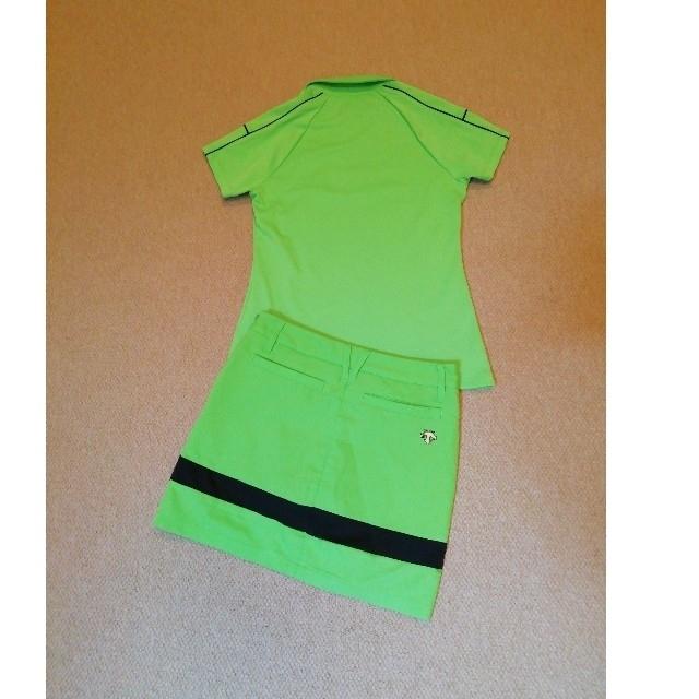 DESCENTE(デサント)のデサント ゴルフ 半袖シャツ S & インナー一体型スカート 58(SS) 2点 スポーツ/アウトドアのゴルフ(ウエア)の商品写真