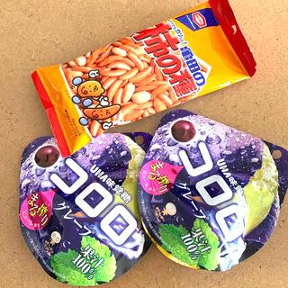 ユーハミカクトウ(UHA味覚糖)のお菓子3点 コロロ グミ キャンディ 柿の種(菓子/デザート)
