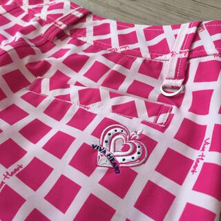 ビバハート(VIVA HEART)のゴルフウエア スカート ピンク 1回のみ着用 超美品 ビバハート (ウエア)