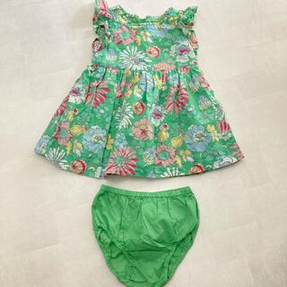babyGAP - ベビーGAP♡80センチ♡可愛い花柄ワンピース♡パンツ付き♡