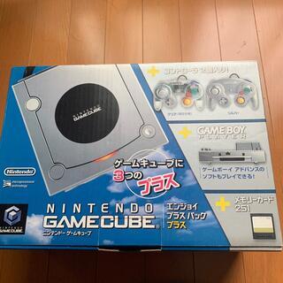 ニンテンドーゲームキューブ(ニンテンドーゲームキューブ)のNintendo GAMECUBEエンジョイプラスパックSL+クリアC(家庭用ゲーム機本体)