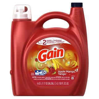 ピーアンドジー(P&G)の輸入衣料用洗濯洗剤 ゲイン アップルマンゴ 4.43L(洗剤/柔軟剤)