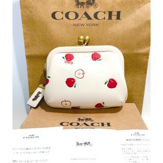 COACH - 未使用 coach キスロック りんご柄 がま口 財布 小銭入れ