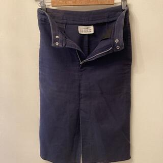 エムエムシックス(MM6)のマルタンマルジェラ デニムスカート ブルー(ひざ丈スカート)