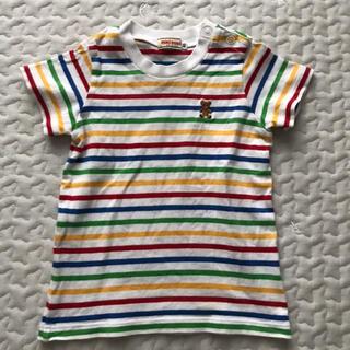 ミキハウス(mikihouse)の☆MIKIHOUSE☆ミキハウス Tシャツ ボーダーT クマ 80 キッズベビー(Tシャツ)