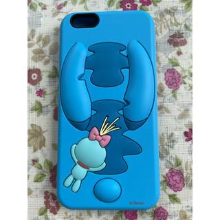 ディズニー(Disney)のiPhone6s ケース 水色 シリコン ディズニー スティッチ!(iPhoneケース)
