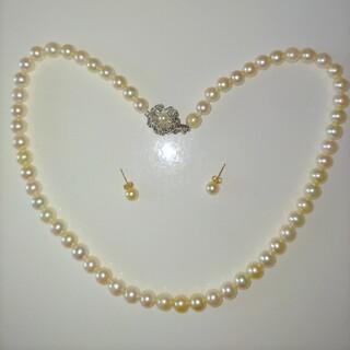 ジュエリーマキ(ジュエリーマキ)の☆美品☆ジュエリーマキあこや真珠ネックレス&K18ピアスセット(ネックレス)