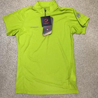 マムート(Mammut)の新品 定価9240円レディースS 半袖ジップシャツ MAMMUT ライトグリーン(登山用品)