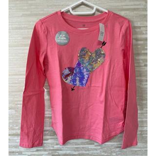 ギャップキッズ(GAP Kids)の「160CM」GAP ギャップ インタラクティブグラフィック長袖シャツ ピンク(Tシャツ/カットソー)