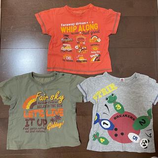 AEON - 95 男児半袖Tシャツ 3着セット