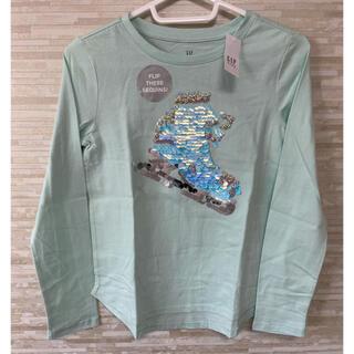 ギャップキッズ(GAP Kids)の「160CM」GAP ギャップ インタラクティブグラフィック長袖シャツ 緑(Tシャツ/カットソー)