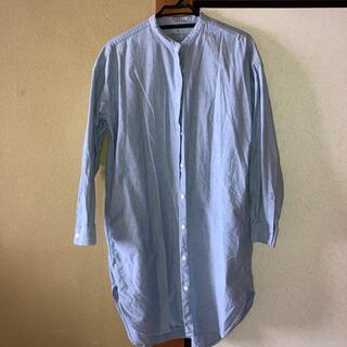 MUJI (無印良品) - 無印 スタンドカラーシャツ ロング