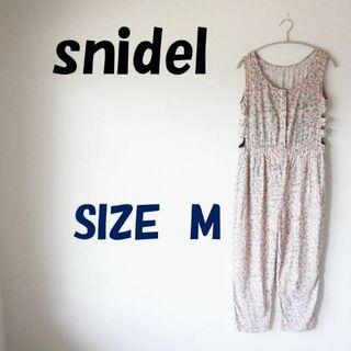 snidel - ❤週末セール❤スナイデル サロペット ノースリブ ピンク花柄  SIZE M