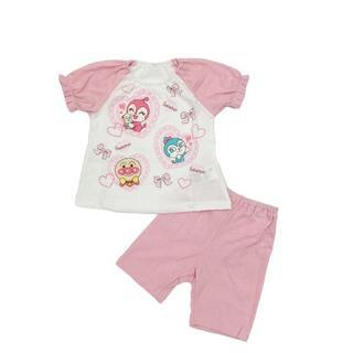 アンパンマン - 新品 90cm アンパンマン メッシュハート柄半袖パジャマ ピンク